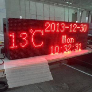 Semi-outdoor,outdoor Usage and time/count up/ countdown Display Function time temperature humidity led clock