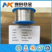 99.9% Pure Platinum wire S type thermocouple 0.03mm