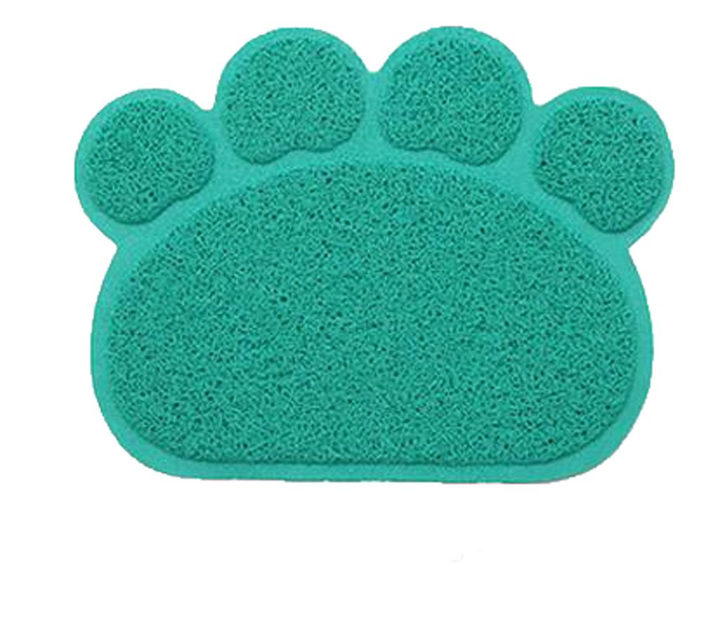 OUUD Cute Paw Shape Waterproof Non-slip Pet Food Feeding Mat Bowl Place Mat for Dog Cat Puppy Kitten-12x16 Inches