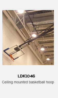 ceiling mounted basketball hoop