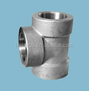 3000lb Stainless Steel NPT Female Threaded Equal Tee