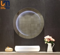 RGB Muti-colour Single Colour Beauty LED For Bathroom Round Wall Custom Decorative Infinity Mirror