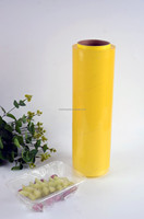 Professional food grade clear pvc plastic film wrap with Slide Cutter