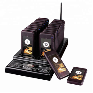 Wireless queue ordering system , waiter calling system , slim coaster pager system