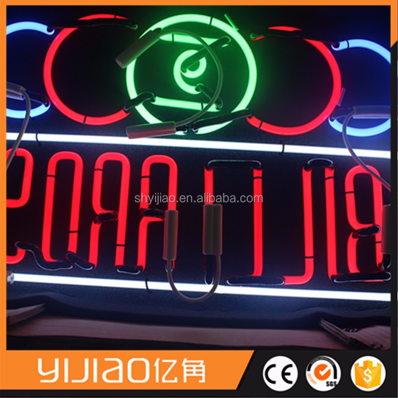 Interior office building sign neon light letter