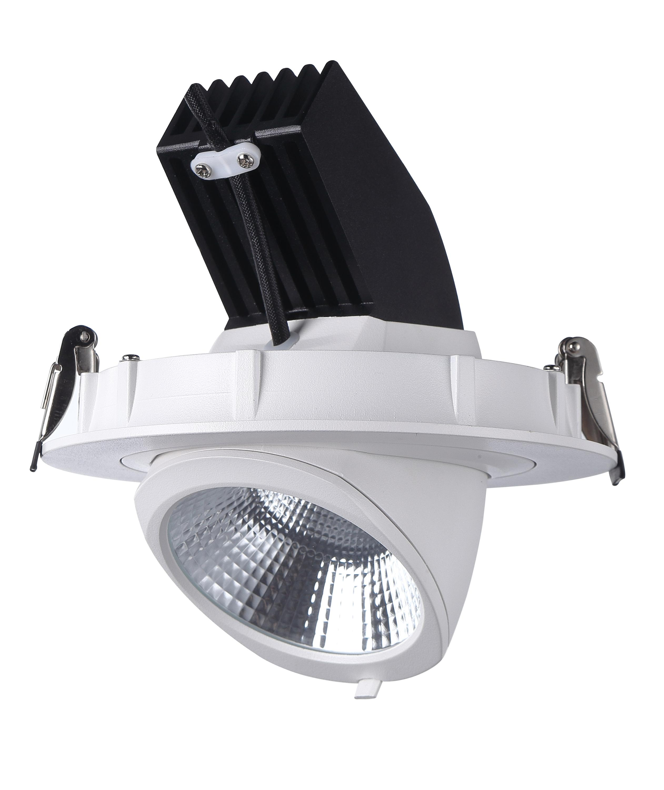 EU standard gimbal dimmable led ceiling spot light,recessed cob commercial <strong>spotlight</strong>
