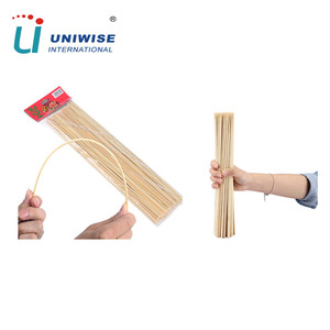 Eco-friendly High reflective round barbecue bamboo roasting sticks