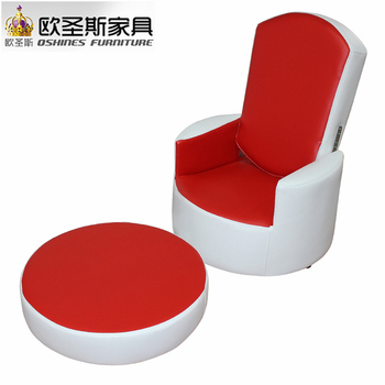 Children Furniture Mini Kids Single Seater Leisure Chesterfield Flip Out  Leather Foam Sofa Chair Q9