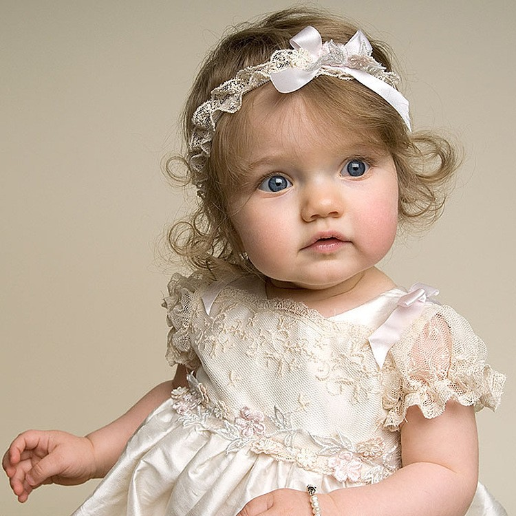 Vintage Baby Girl Boys Lace Champagne First Communion Dresses ...