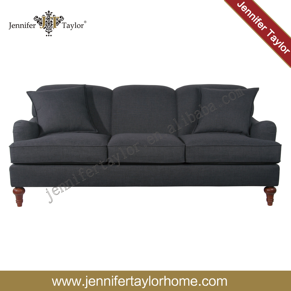 Upholstered 3 seater fabric classic sofa set for home furniture