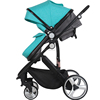 Fashionable manufacture baby carrier with big wheels baby stroller fabric 600D OX