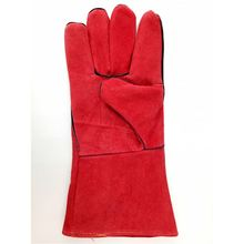 China Manufacture Safety Red Leather Work Gloves