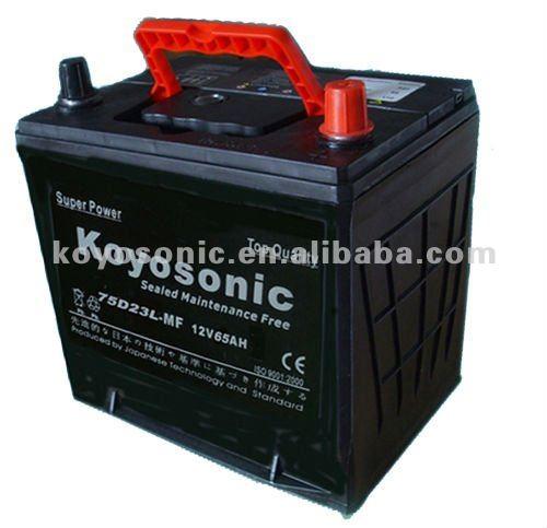 Maintenance Free 75d23l-mf Car Battery