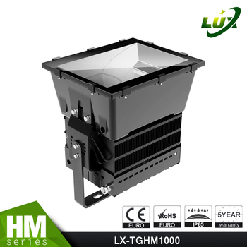 Narrow degree 120LM smd high lumen luminaire 1000w led sports lighting