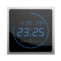high quality led digital clock wall mounted clock with calender and temperature