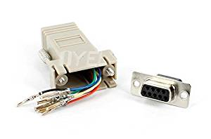 RS232 DB9 Female to RJ45 Female connector Adapter ,RJ45 to DB9 RS232 com LAN TO 232 db9 10PCS/lot