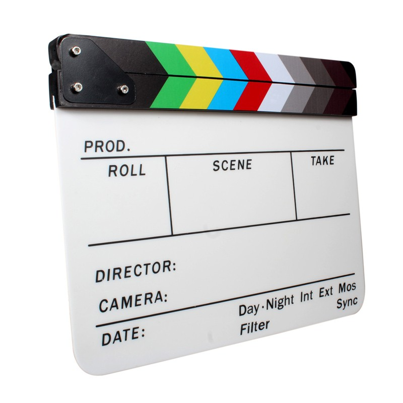 New Colorful Clapperboard Acrylic Movie Action Slate Clap Clapper Board  Handmade - Buy Led Digital Movie Slate Clapper Board,Movie Slate Clapper