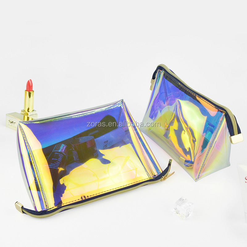 Holographic Pvc Bag Cosmetic Bag For Make-up Pvc Beach Bag