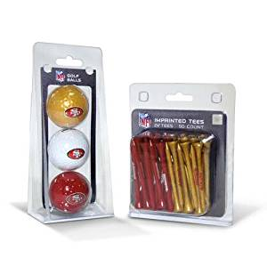 NFL San Francisco 49ers 3 Balls/50 Tee Pack
