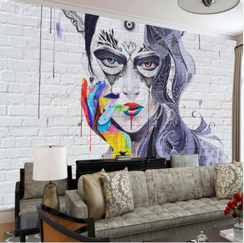 Graffiti Sexy Beauty Brick Wall Wallpaper 3d Custom Wall Painting Living Room Bedroom Art Mural Wall Paper Buy Graffiti