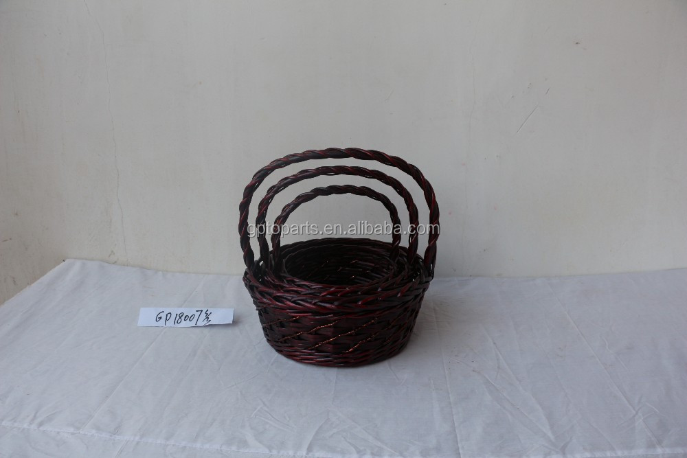 Cheap wicker gift basket for planter