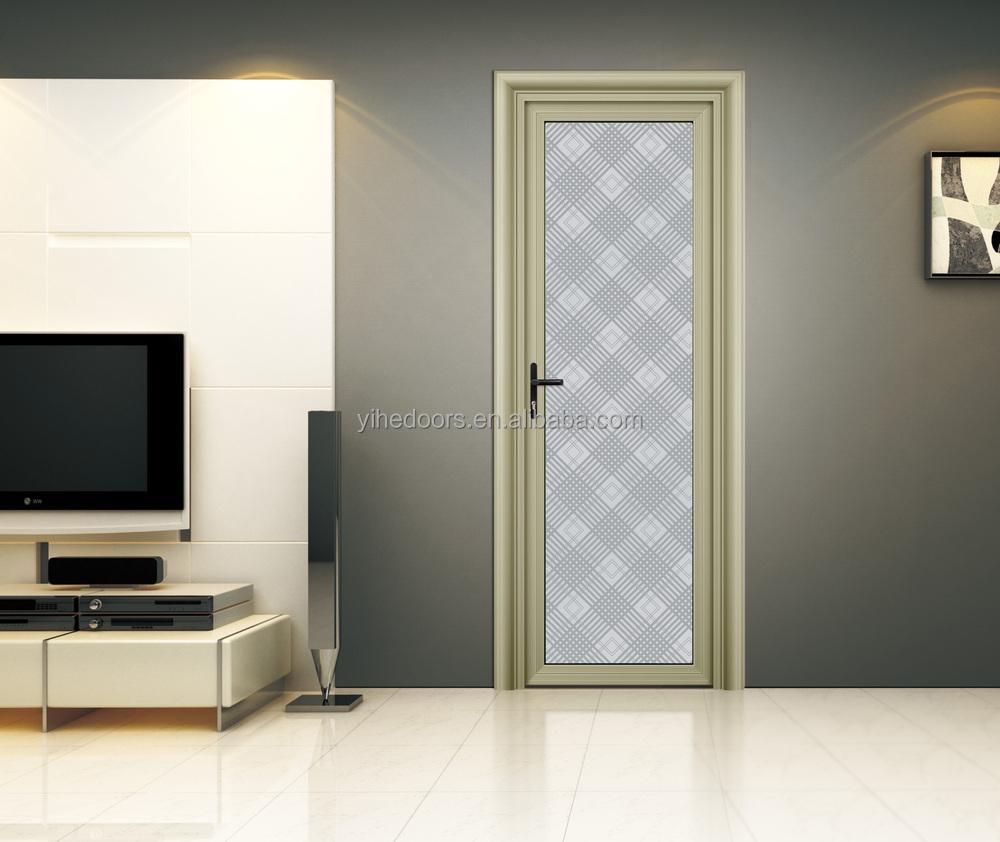 interior moderno puerta del baño de cristal esmerilado/puerta de ... - Marcos De Aluminio Para Puertas De Bano