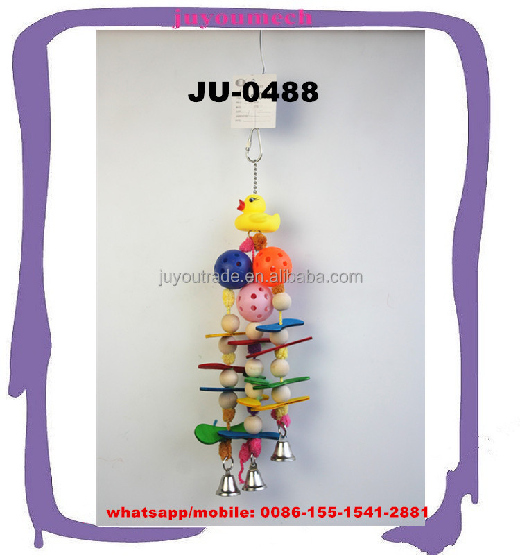 Hot selling pet products new design for flying birds pets playing climbing chews cages hang toys JU-0488
