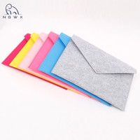 Customized colourful Envelope Bag Felt File Holder Document Bag File Folder with Snap Button