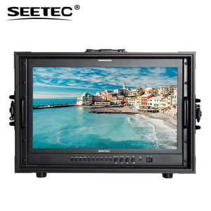 Director shooting SDI broadcast display aluminum suitcase 17 led monitor with LED tally indicators