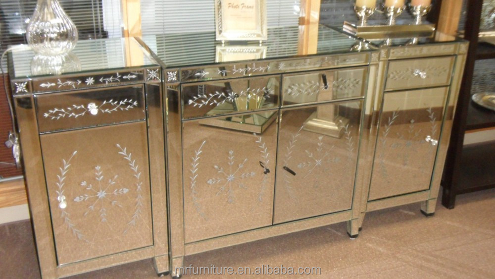 Venetian Style Mirrored Sideboard For BedroomBuy Venetain Style