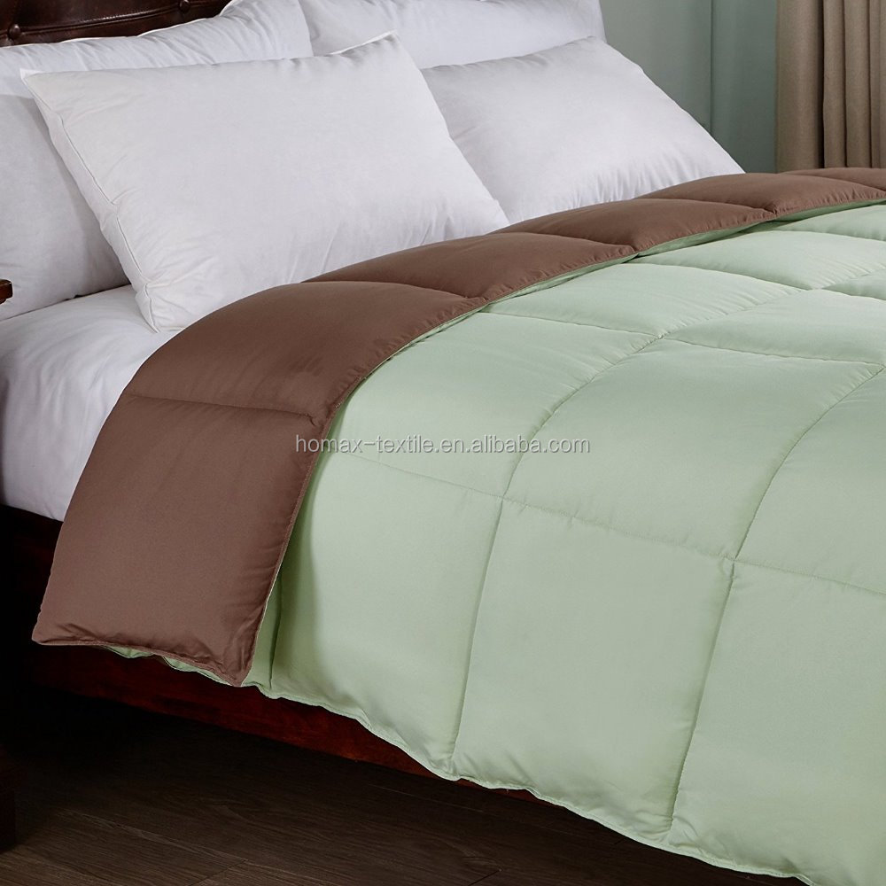 solid bedding comforter green down comforter
