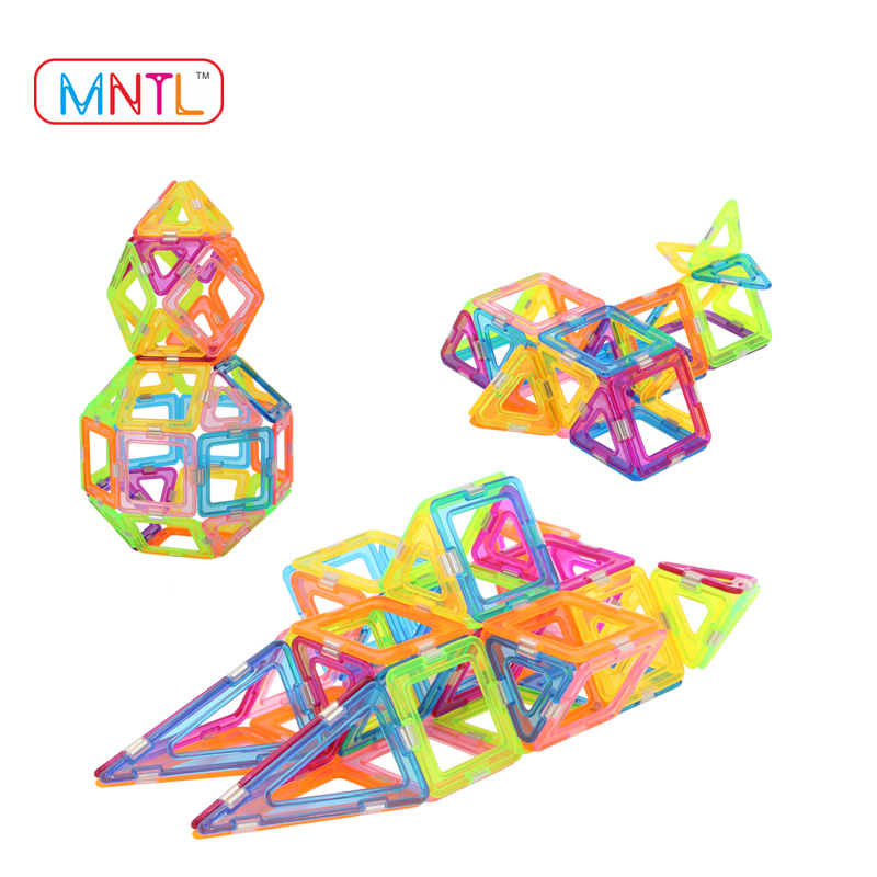 MNTL Newest Magnetic Building Blocks Set Magnetic Construction Stacking Toys for Children Kids with Clear Color - 210 Pcs