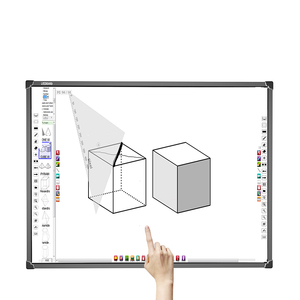 Smart classroom infrared 10 touch aluminum write white board with aluminum frame