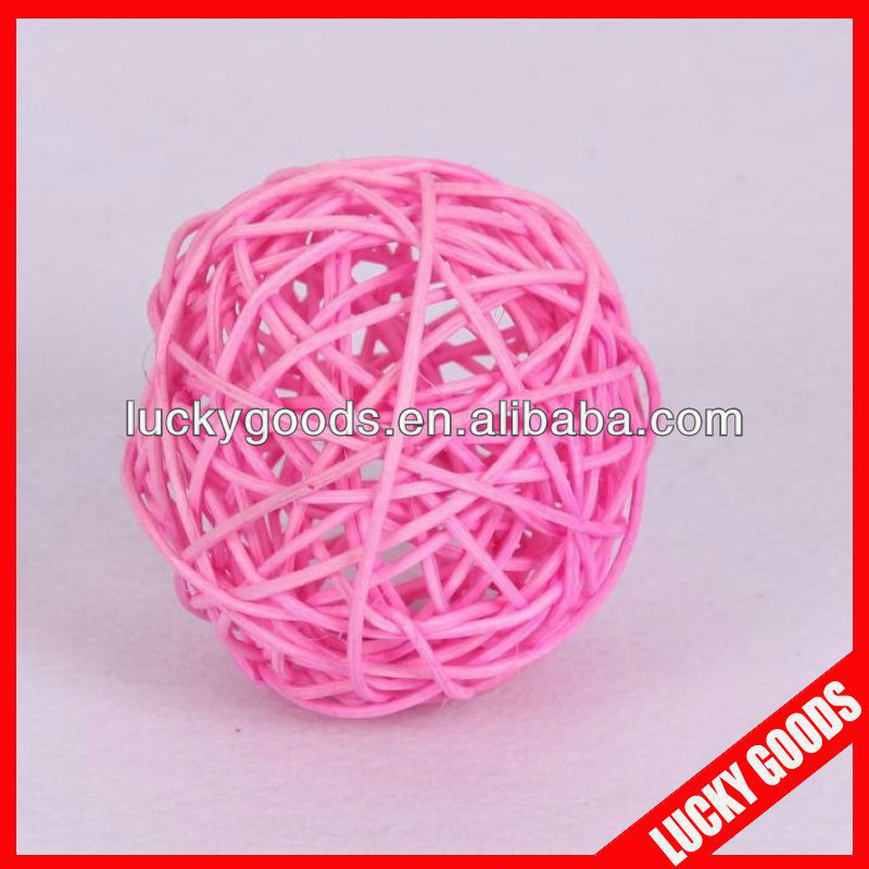 pink rattan hanging balls for party/home decoration