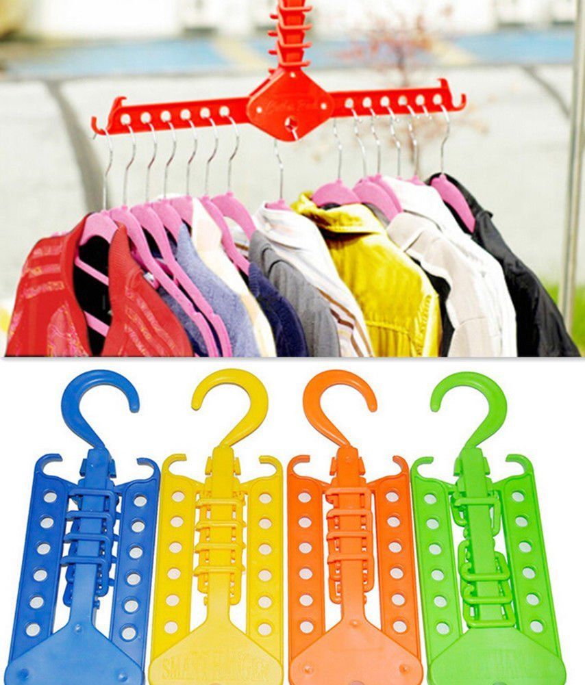 NPLE--NEW Multi-function Magic Hangers SH Clothes Rack Home US Organization Foldable
