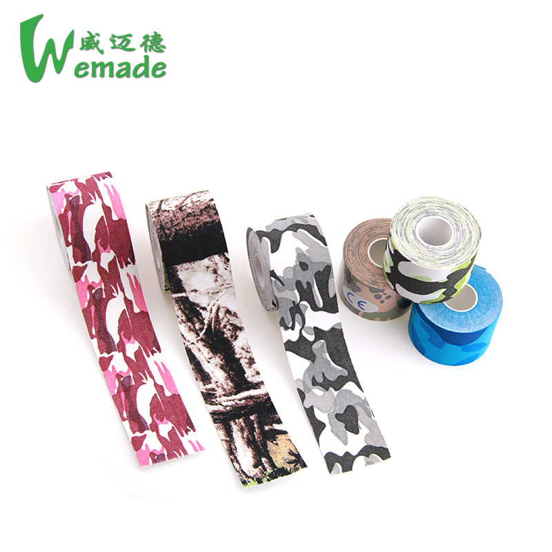 Camo printed wholesale therapeutic kinesiology sports tape kinematics muscle therapy kinesiotaping ce/iso/fda approved 5cmx5m