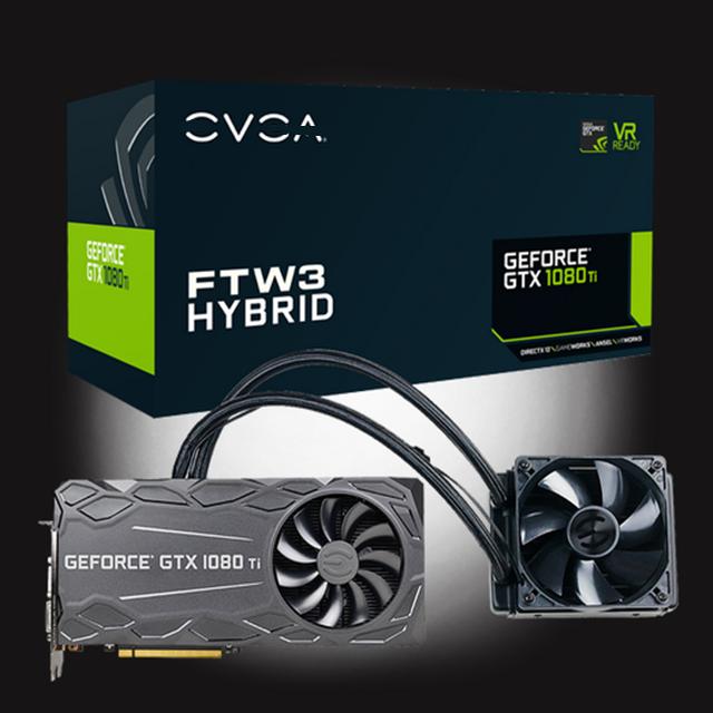 For Evga Geforce Gtx 1080 Ti Ftw3 Hybrid Gaming 11g-p4-6698-kr 11gb Gddr5x  Hybrid & Rgb Led Icx Technology - 9 Thermal Sensors - Buy