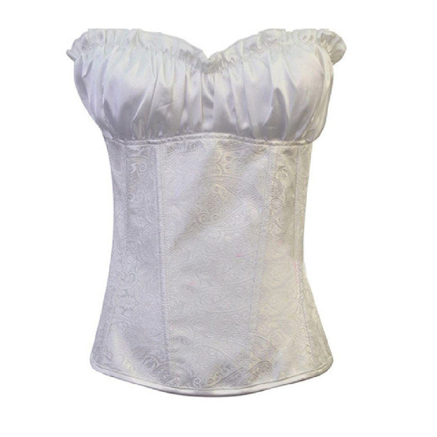 d77acce24 Get Quotations · Abetteric Womens Satin Shapewear Bridal Lace Up Corset  Bustier