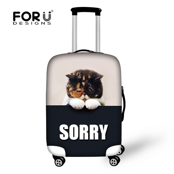 4e6d3ca50 FOR U DESIGN Pets & Animals Protective Suitcase Covers Luggage Bag with  Custom Animal Pattern