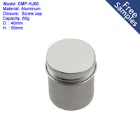 free sample 60ml aluminum jar small metal tin containers for packaging