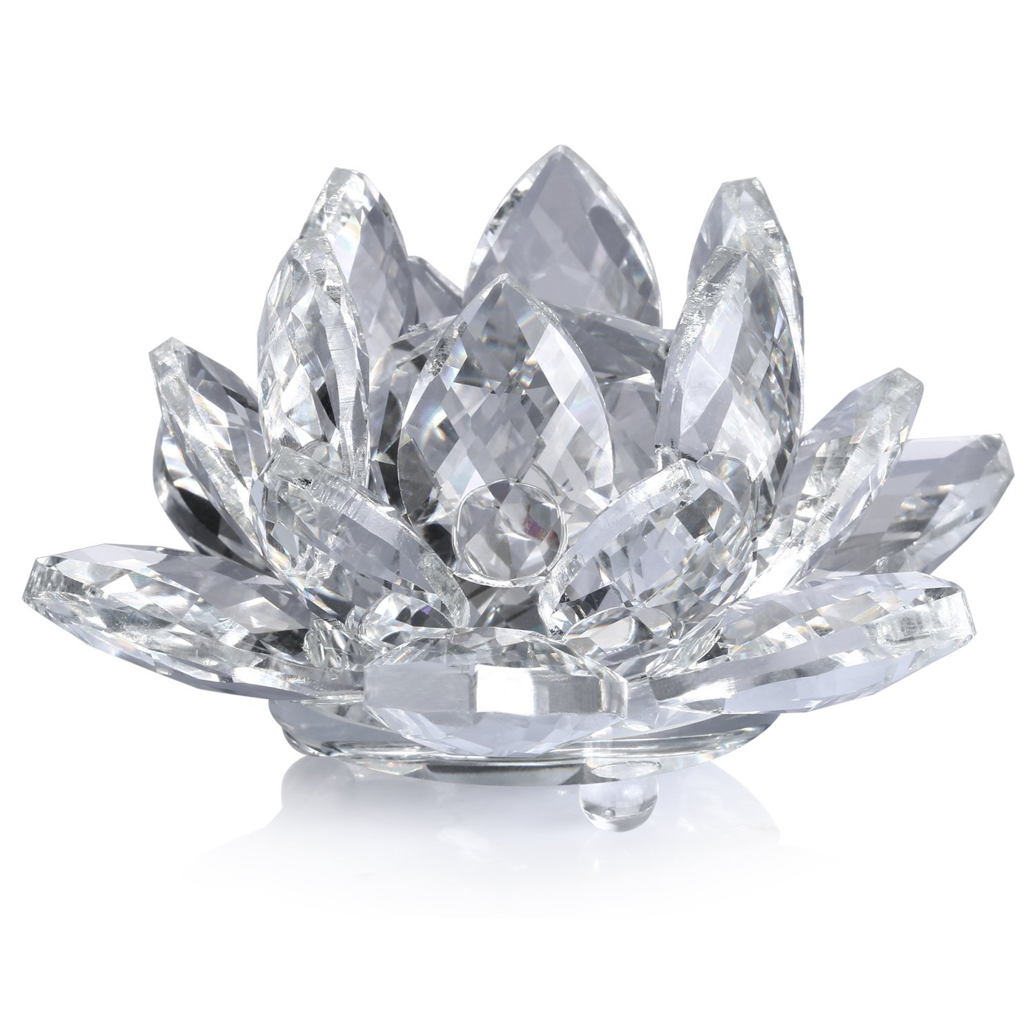 Cheap lotus wedding decoration bandung find lotus wedding get quotations neewer 4inch10cm clear crystal lotus flower with gift box for weddinghome junglespirit Images