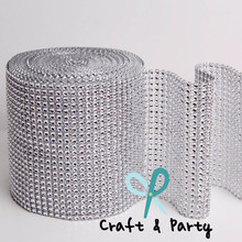 Wholesale 24rows crystal diamante lace wrap for cake decorating