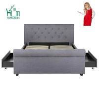Free Sample King California Twin Parts Sleigh Bed Frame