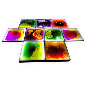 Stage effect colorful bright liquid floor tiles for happy dance