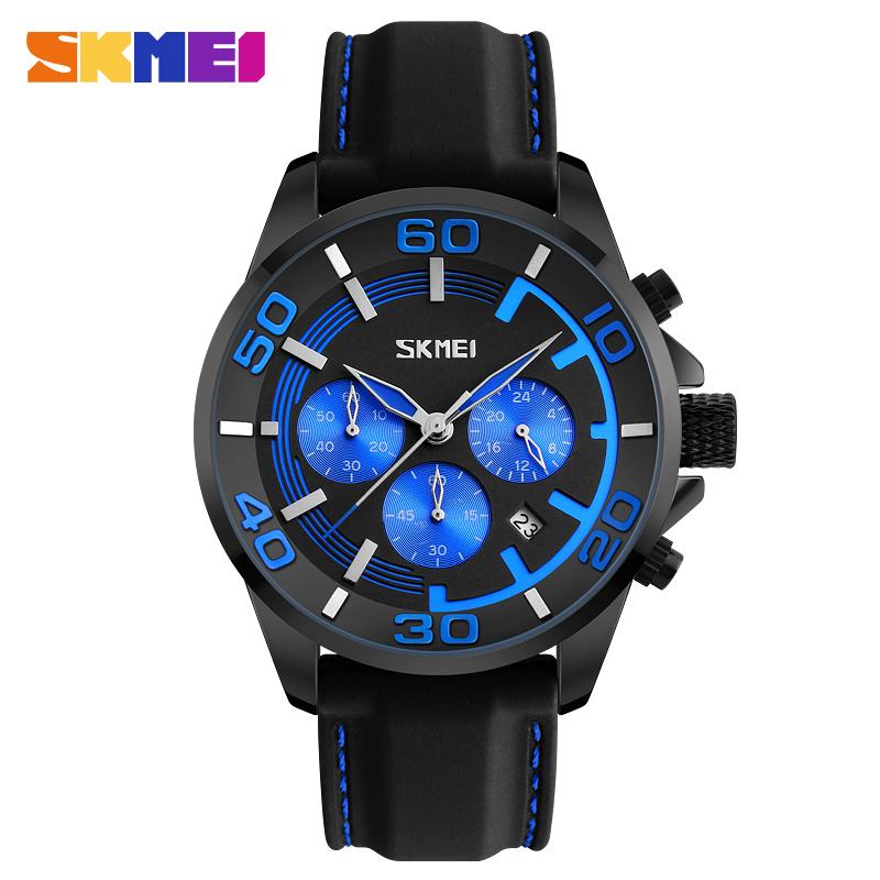 0b255ffc8d9 SKMEI 9154 Relógio de Quartzo Dos Homens 2017 De Luxo Famoso Relógio De  Pulso Masculino Relógio