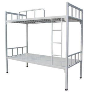 Military School Dormitory Metal Bunk Bed Galvanized Steel Bunk Bed for Adult
