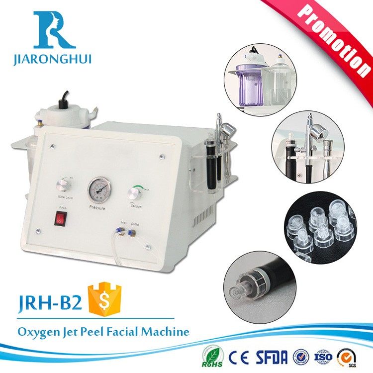 Portable diamond microdermabrasion machine / oxygen spray water dermabrasion equipment for skin peeling