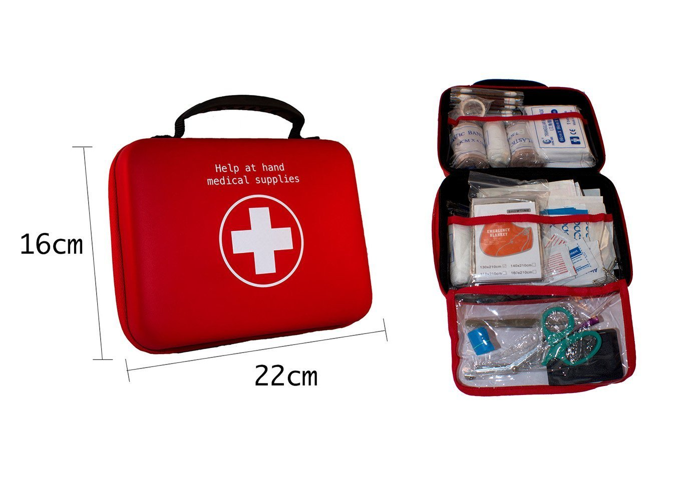 First Aid Kit by Help at Hand - 100 Piece All Purpose Complete Emergency Medical Supplies Bag for Adults, Kids, Teens, Students - Great for Car, Home, Camping, Hiking, Adventure, Survival & Outdoors