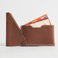 Flip Cards Bag Slim Man Leather Wallet
