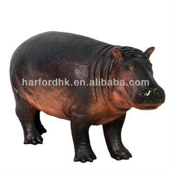 Giant Life Size Hippo   Fiberglass Resin Garden Animals Ornament.